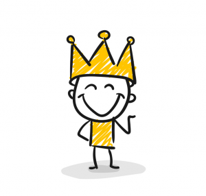 König Mit Krone Comic